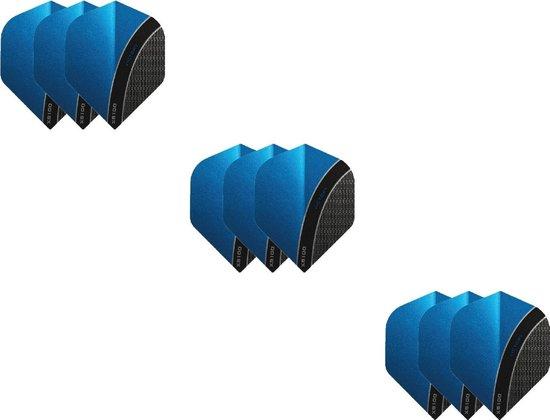 3 Sets (9 stuks) XS100 Curve flights Multipack - Aqua Blauw