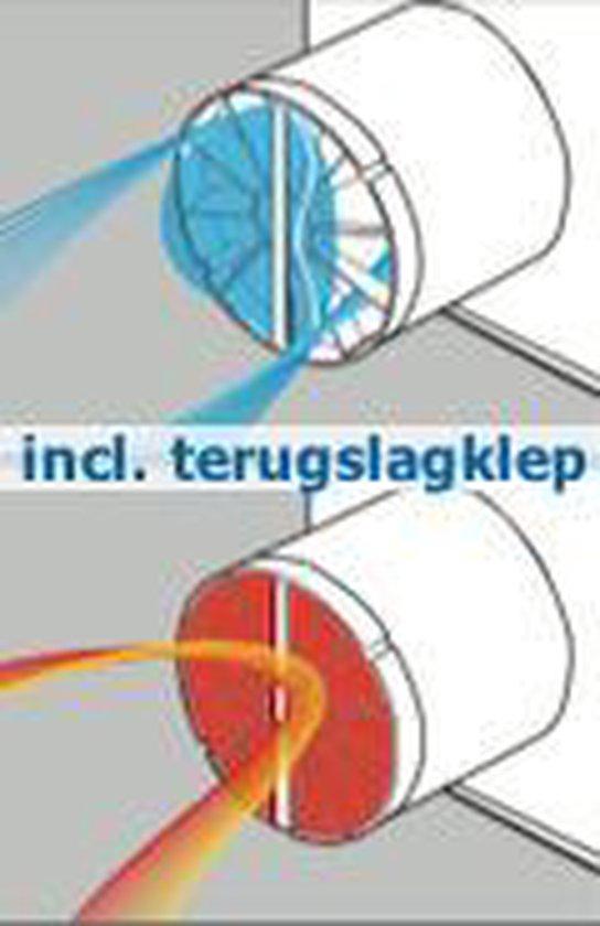 Ventilatieshop badkamer/toilet ventilator - timer - vochtsensor - Ø100mm - Tegelfront