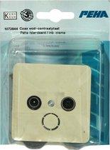 PEHA Standaard coax wandcontactdoos + centraalplaat | CREME
