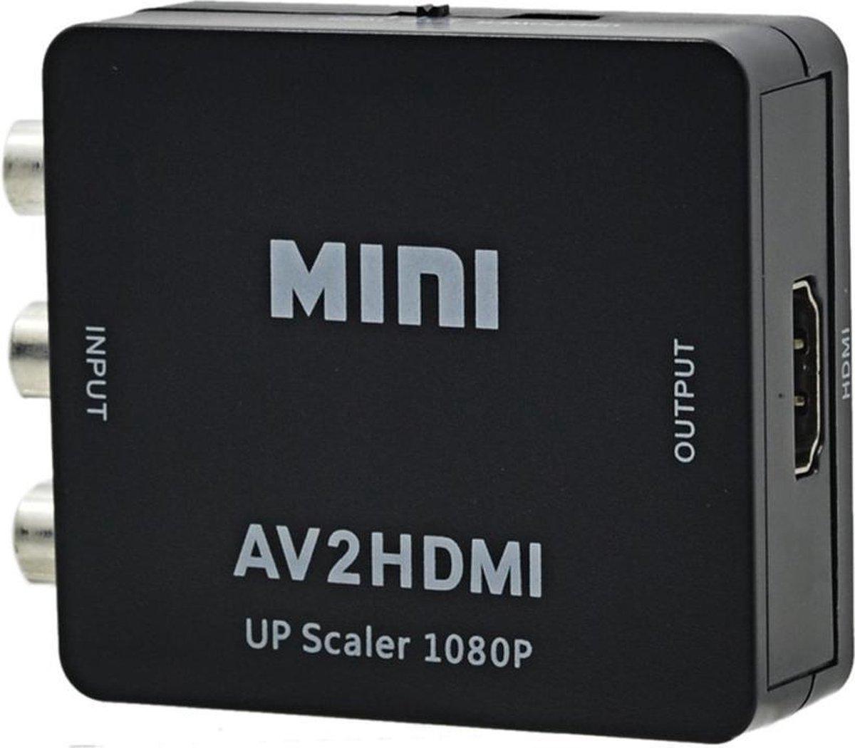 Mini Composite RCA AV naar HDMI Converter Upscaler Adapter - Zwart - NedRo