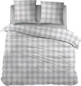 Snoozing Mila - Dekbedovertrek - Tweepersoons - 200x200/220 cm + 2 kussenslopen 60x70 cm - Grey