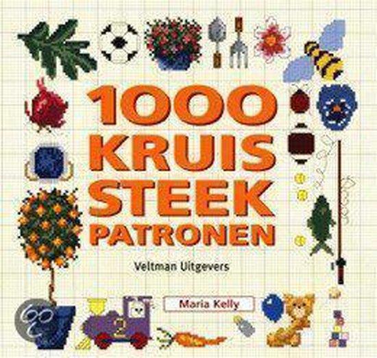 Cover van het boek '1000 kruissteekpatronen' van Maria Kelly
