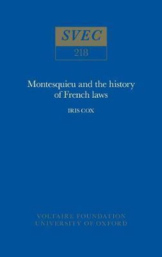 Montesquieu and the History of French Laws