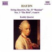 Haydn: String Quartets Op 33 Nos 3, 4, 6 / Kodaly Quartet