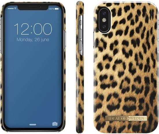 iDeal of Sweden Fashion Back Case Wild Leopard voor iPhone X