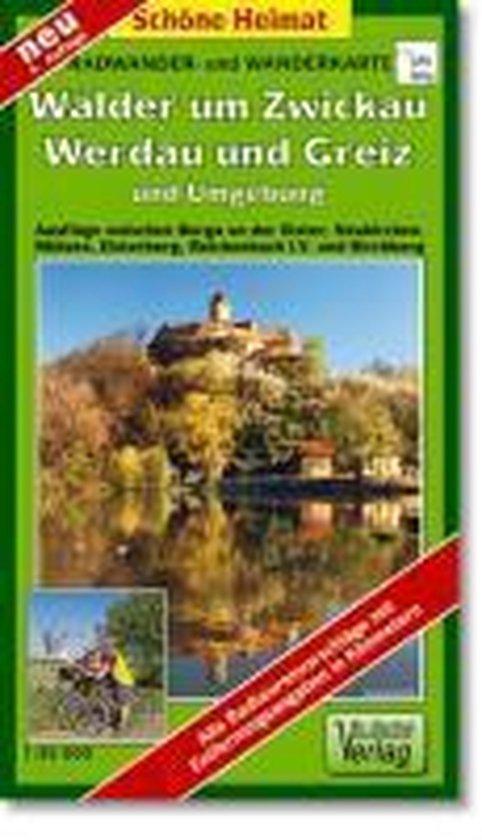 Radwander- und Wanderkarte Wälder um Zwickau, Werdau und Greiz und Umgebung 1 : 35 000