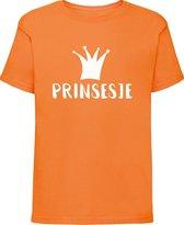 Oranje shirt Koningsdag | Prinsesje | Maat 134-140