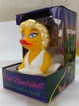 CelebriDucks Pond Bombshell CelebriDuck Blond Rubber Duck Marilyn MONROE Nieuw model 2017  11cm  bekendste badeendjes merk uit de USA