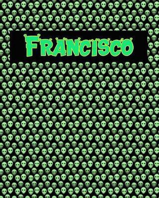 120 Page Handwriting Practice Book with Green Alien Cover Francisco