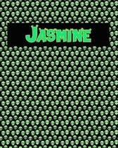 120 Page Handwriting Practice Book with Green Alien Cover Jasmine
