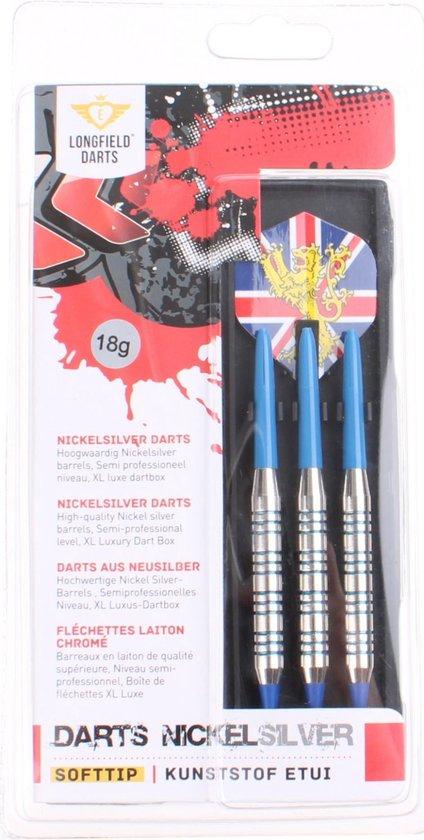 Afbeelding van het spel Longfield Darts Softip Set - Nickelsilver