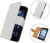 TCC Hoesje HTC One Book/Wallet Case/Cover Wit M7