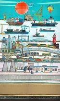 Poster Stad Rotterdam -Hanneke de Jager - Multikleur - 82 x 140 cm - Fotoprint - art print - wanddecoratie - print