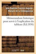 Memorandum Historique Pour Servir A l'Explication Du Tableau Donne CI-Apres, Opuscule Destine