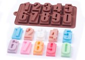 Kitchen Princess - Siliconen Chocoladevorm Cijfers - Cijfer Fondant Bonbonvorm