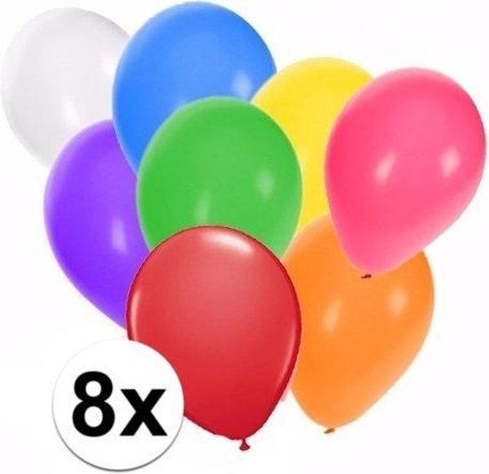 Gekleurde ballonnen 8 stuks