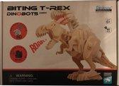 Bijtende 3D Dino T-Rex Houten Puzzel D220 met sound control