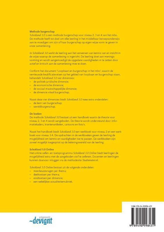 Schokland 3.0 Niveau 2 mbo Werkboek - Jan Verwijlen pdf epub