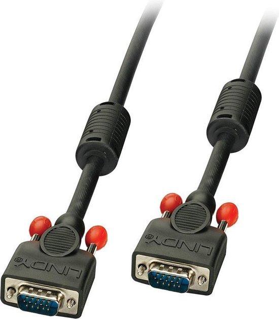 Lindy VGA Kabel M/M zwart 15m HD15 M/M DDC-geschikt