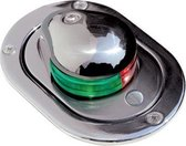 Aqua Signal Serie 24 RVS inbouw Tweekleuren Navigatielicht