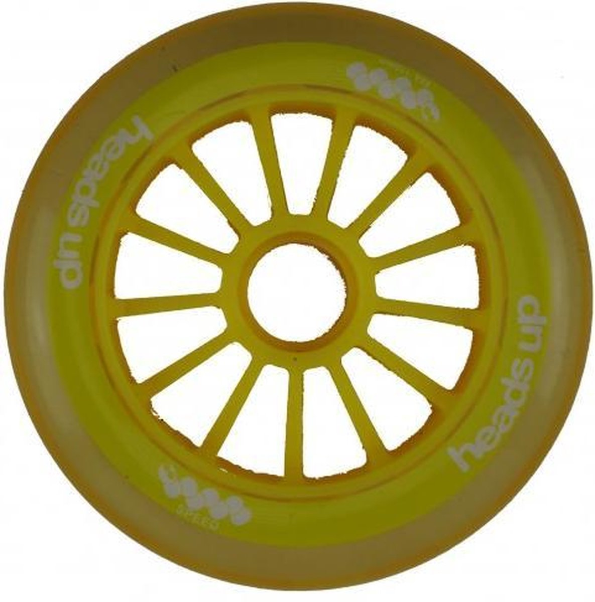Headsup 110 MM 88A inline skate of step wielen geel 4-pack