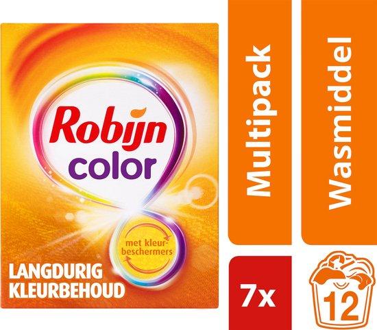 Robijn Waspoeder Color - 7 x 12 wasbeurten - Voordeelverpakking