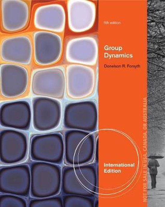 Boek cover Group Dynamics, International Edition van Donelson Forsyth