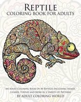 Reptile Coloring Book for Adults