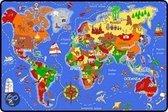 Speeltapijt Wereldkaart - 95x200cm educatief