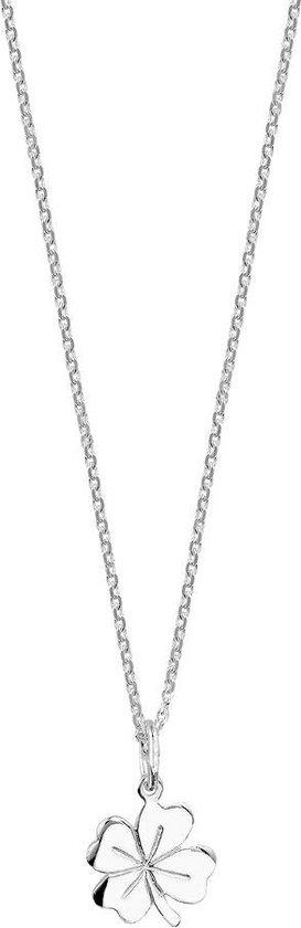 Glams Dames ketting klaver - Zilver 45 cm
