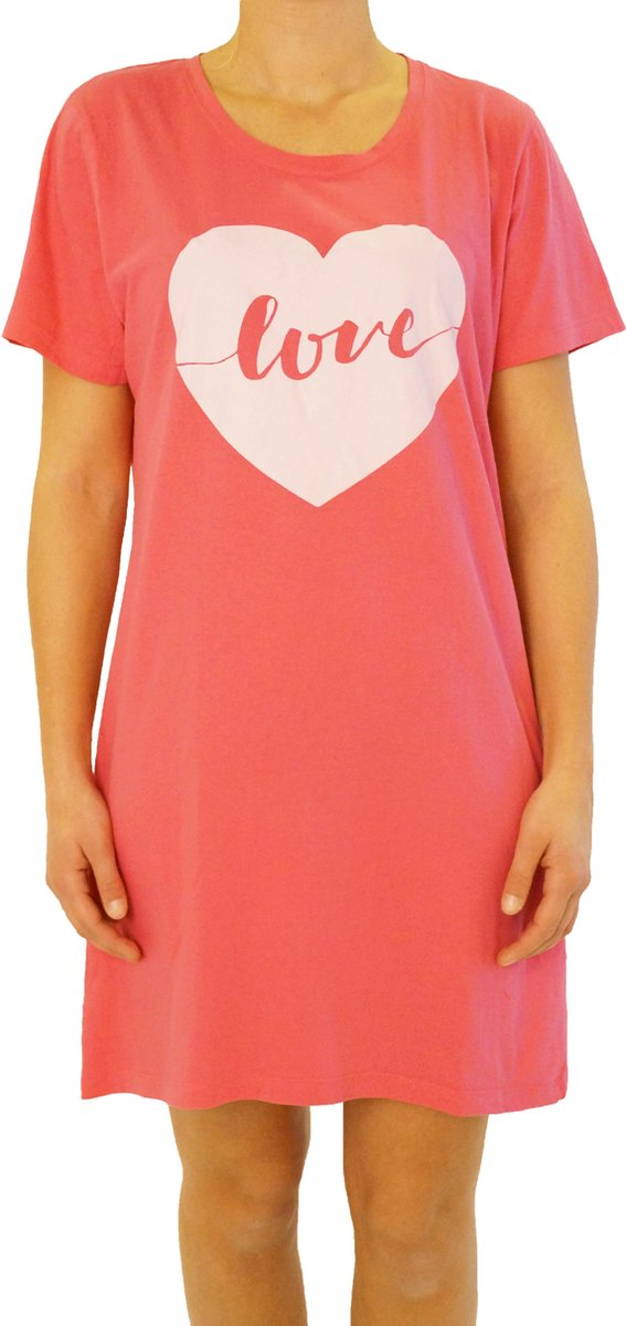 Gino Santi Bigshirt, Slaap T-shirt print Love