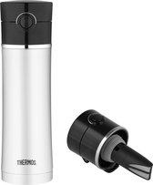 Thermos Premium Drinkfles Met Theefilter - RVS - 470 ml - Zwart