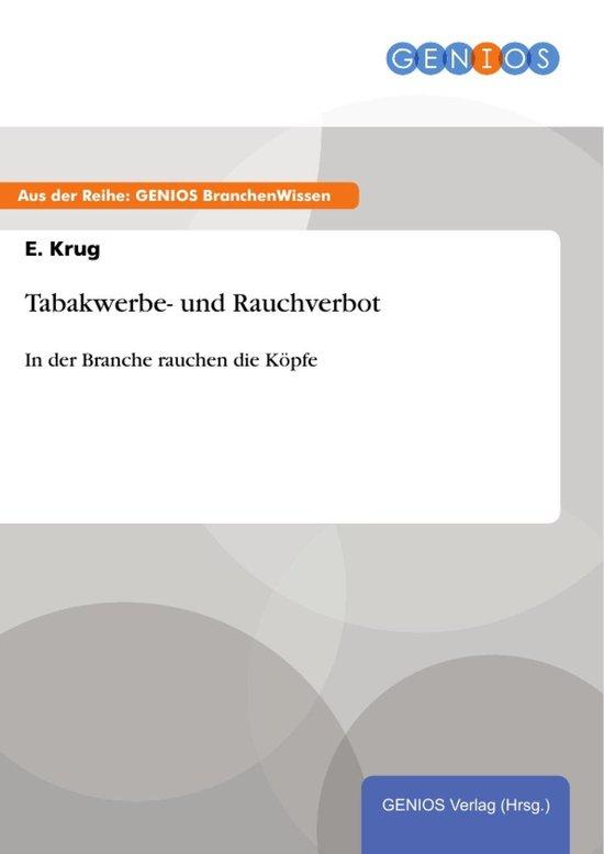 Boek cover Tabakwerbe- und Rauchverbot van E. Krug (Onbekend)