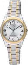 Mooi Q&Q Horloge zilverkleurig/goudkleurig Q207J404Y