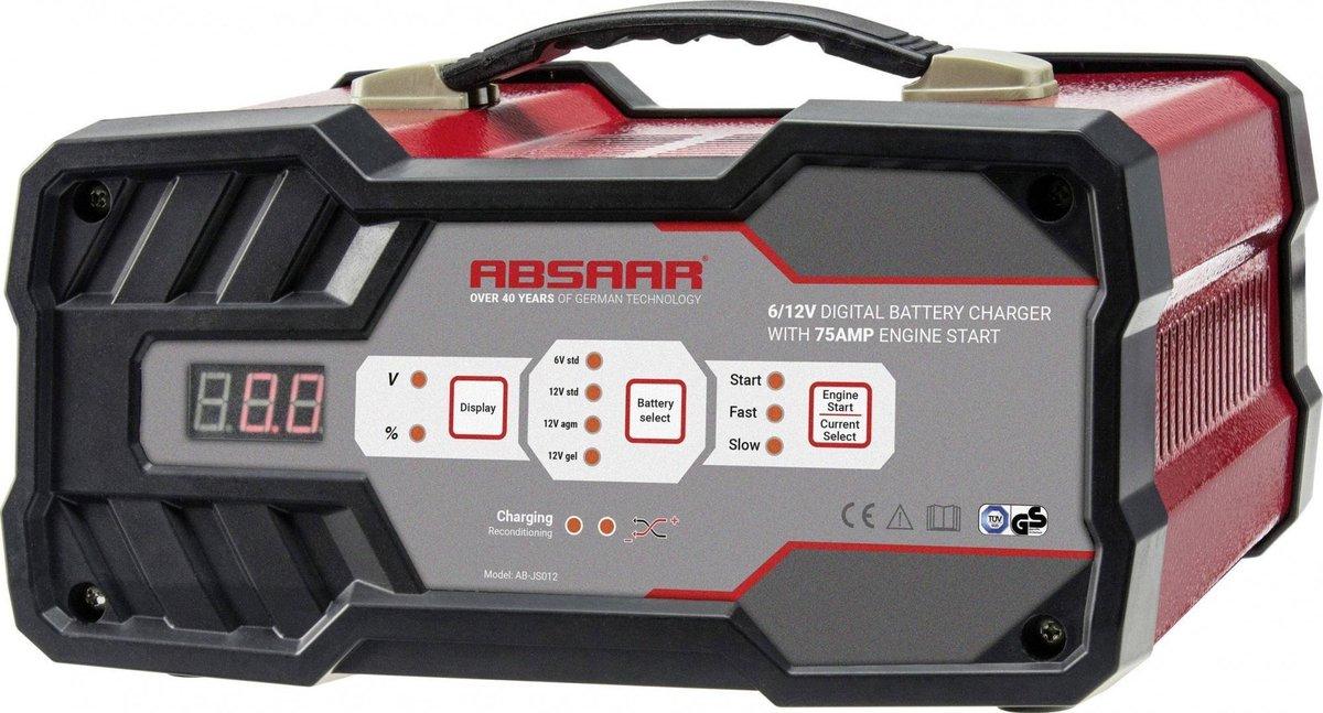 Absaar AB-JS012 Acculader met jumpstarter 12A 6/12V