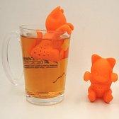 Theefilter Poes / kat Oranje - voor losse thee