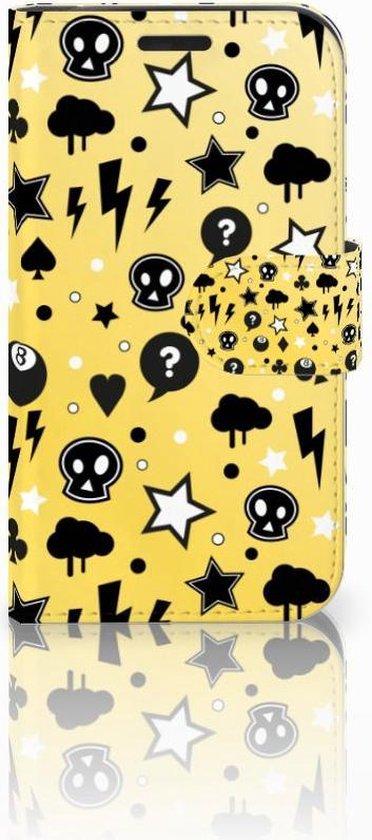 LG K4 Bookcase Hoesje Punk Yellow