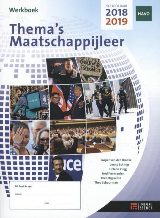 Thema's Maatschappijleer Havo 2018-2019 werkboek - Heleen Ruijg E.A.  