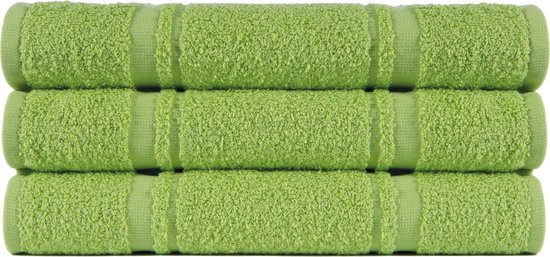 4 stuks Badstof Keukendoeken 50x50 cm Uni Pure Groen col 2612