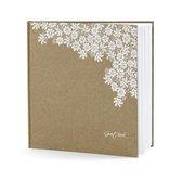 Bruiloft gastenboek met bloemen - Huwelijk receptieboek
