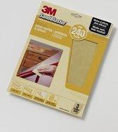 3M™ SandBlaster™ Schuurpapier vellen, 69023, Geel, P240, 3 vellen