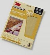 3M™ SandBlaster™ Schuurpapier vellen, 69022, Geel, P320, 3 vellen