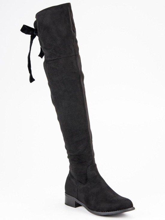 | Dames Laarzen Overknee Laarzen Zwart Maat 36