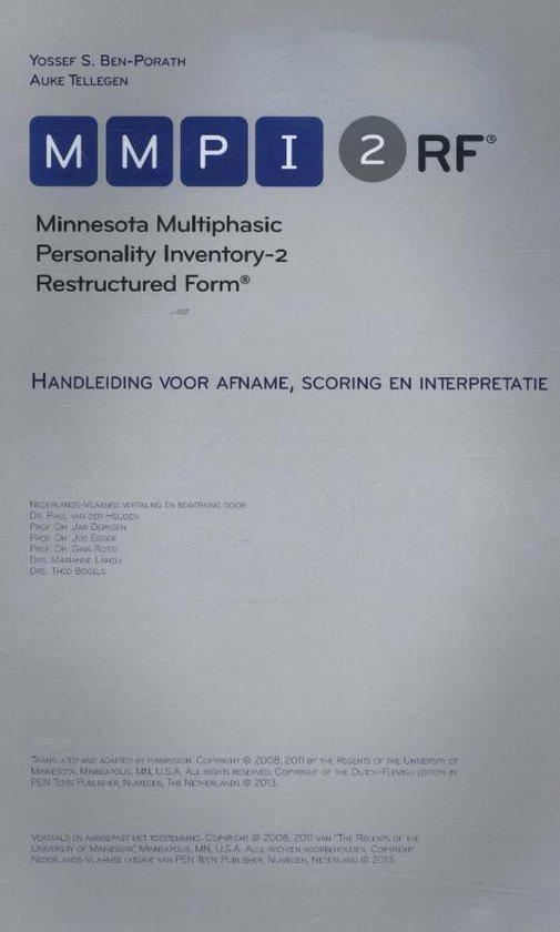 Boek cover MMPI-2-RF van Yossef S. Ben-Porath (Paperback)