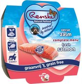 Renske Vers Vlees Maaltijd - Verse zalm - Graanvrij - 8 stuks à 100 gram