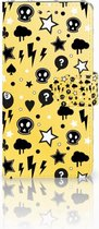 Smartphonehoesje LG K4 (2017) Wallet Book Case Hoesje Punk Yellow