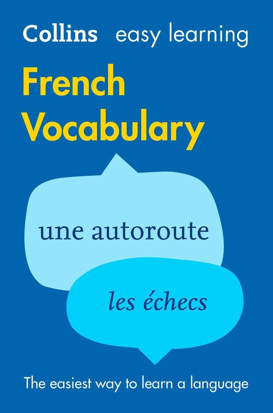 Boek cover Easy Learning French Vocabulary: Trusted support for learning (Collins Easy Learning) van Collins Dictionaries (Onbekend)