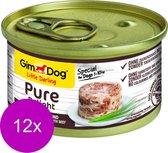 Gimdog Little Darling Pure Delight 85 g - Hondenvoer - 12 x Kip&Rund