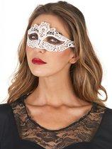 NINGBO PARTY SUPPLIES - Wit kant masker voor vrouwen - Maskers > Masquerade masker