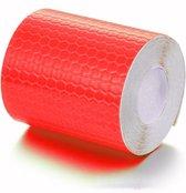 Reflecterende Sticker Tape - Rode reflectie plakband op rol van 200 x 5cm.